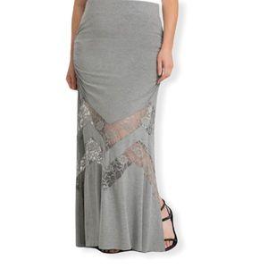 Torrid Lace Inset Maxi Skirt